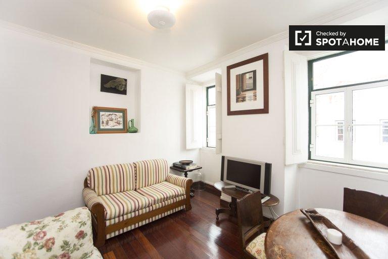 Belém, Lizbon kiralık geleneksel 1 yatak odalı daire