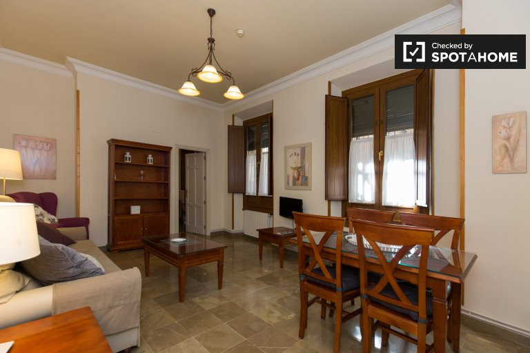 Furnished 1-bedroom apartment for rent in Realejo, Granada