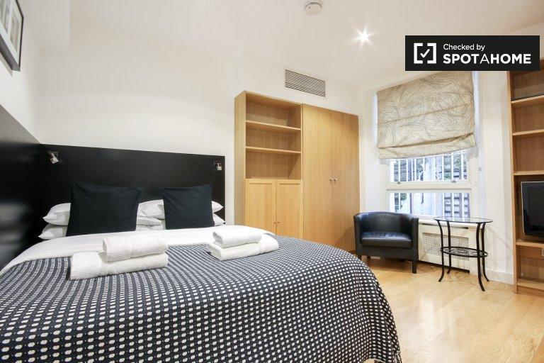 Nowoczesny apartament typu studio do wynajęcia w Kings Cross w Londynie