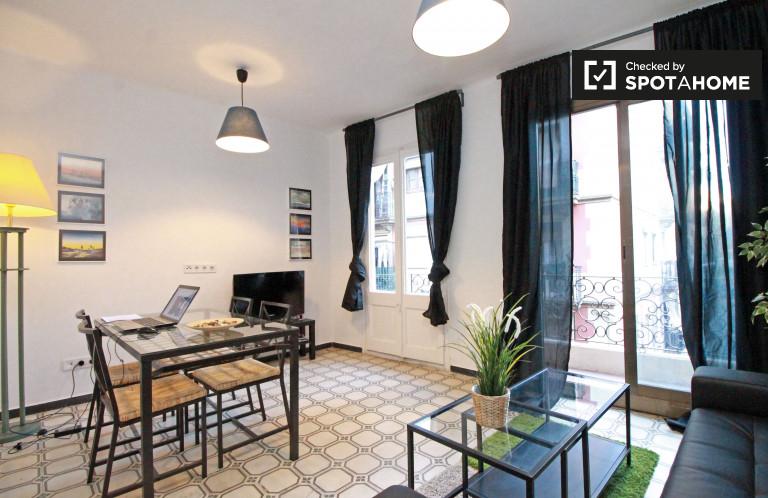 Moderne 2-Zimmer-Wohnung zur Miete in Poble Sec, Barcelona