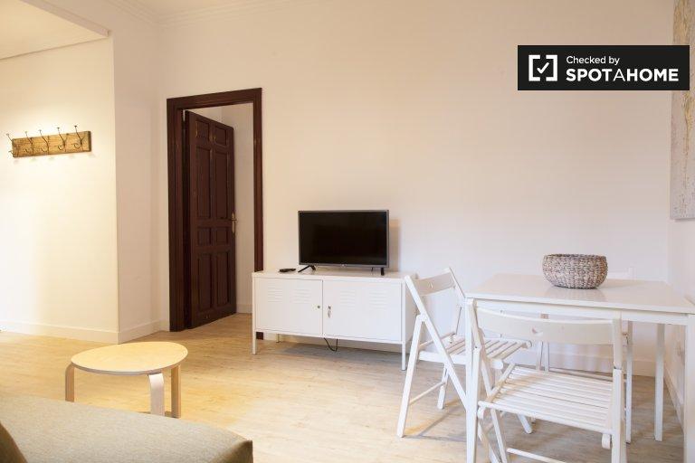 Acolhedor apartamento de 1 quarto para alugar no centro de Madrid
