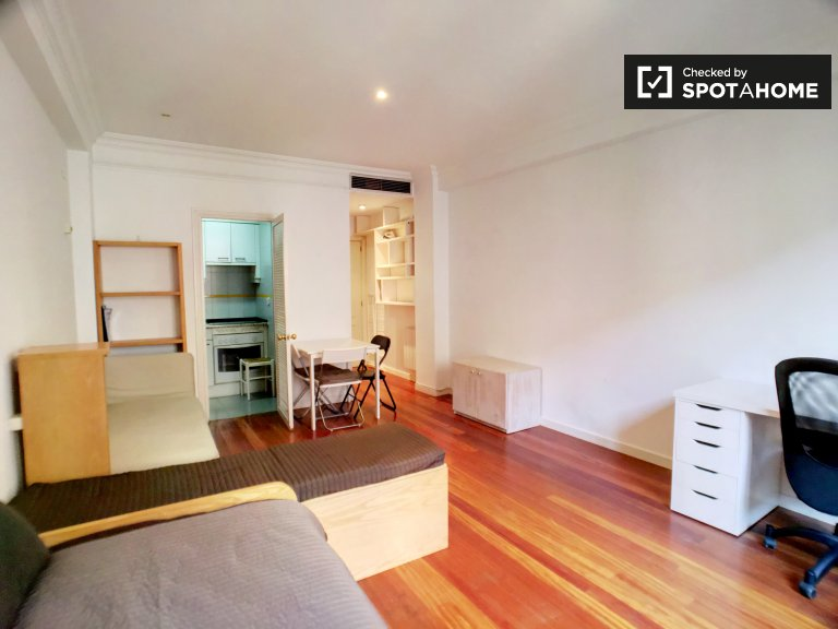 Bright studio apartment for rent in Centro, Madrid