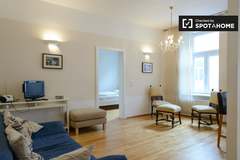 1-bedroom apartment with street view for rent in the 5th District