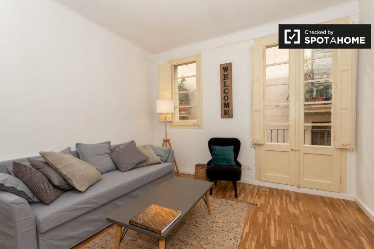 Acolhedor apartamento de 3 quartos para alugar em Barri Gòtic, Barcelona