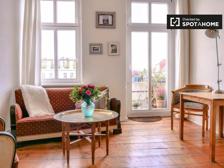 Brilhante apartamento com 1 quarto para alugar em Prenzlauer Berg