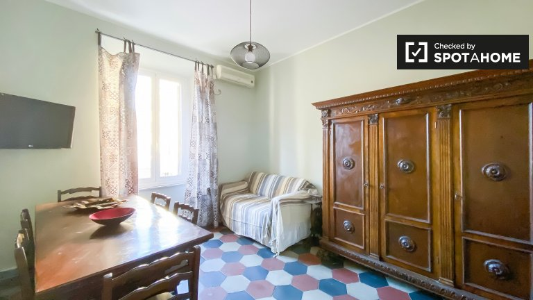 Homey apartment with 2 bedrooms for rent in Testaccio, Rome