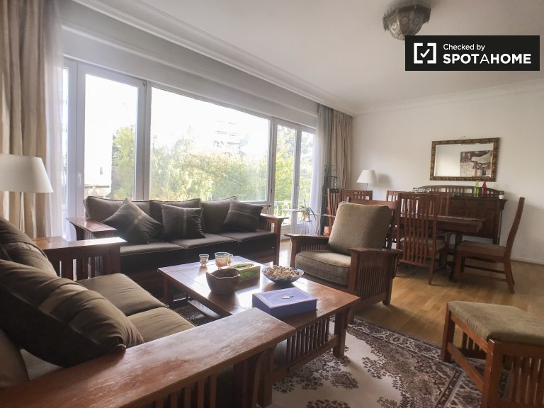 Earthy 3-bedroom apartment for rent in Watermael-Boitsfort
