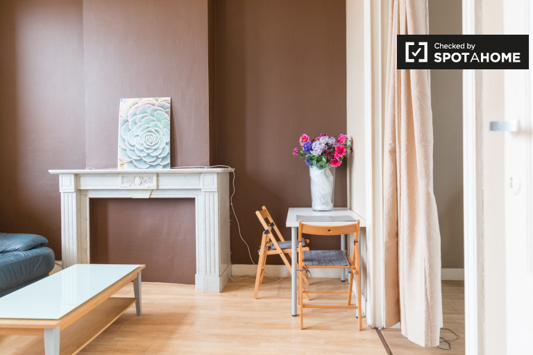 Intimate 1-bedroom apartment for rent in Schaerbeek