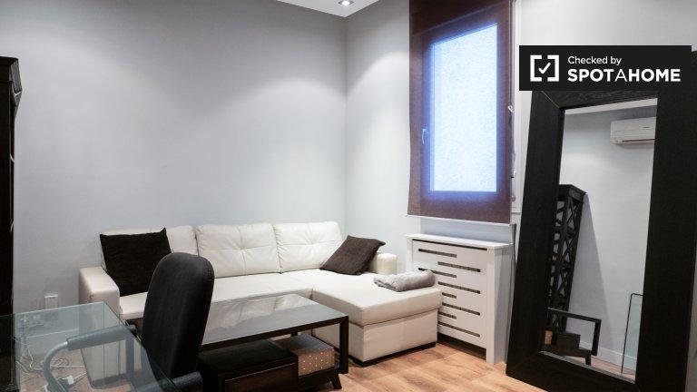 Elegante apartamento de 1 quarto para alugar em Almagro, Madrid