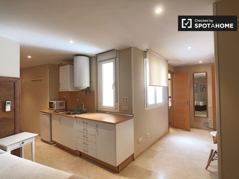 Sharp studio apartment for rent in Centro, Madrid
