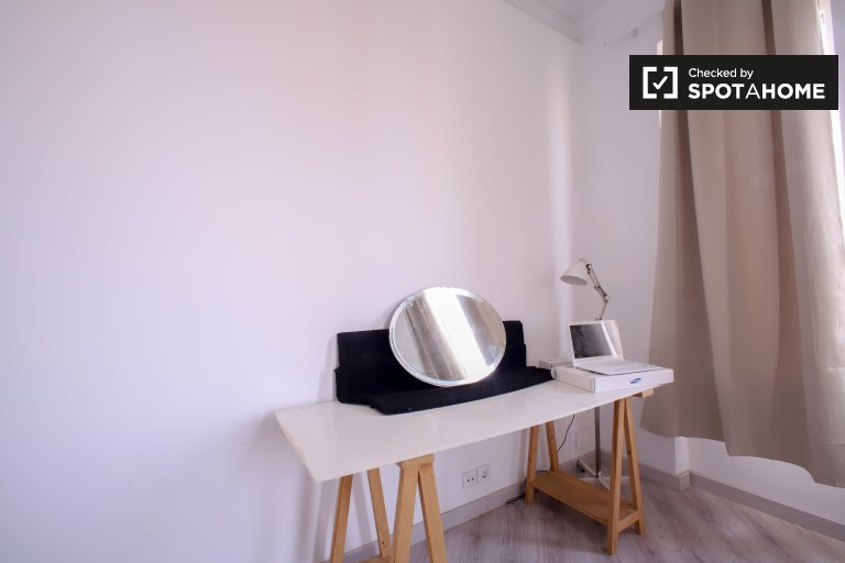 Chambre à louer dans un appartement de 2 chambres à Extramurs, Valence