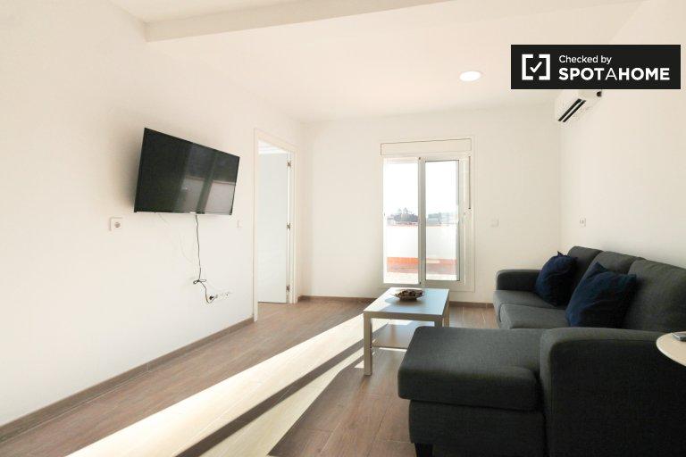 Einfache 1-Zimmer-Wohnung zur Miete in Sants, Barcelona