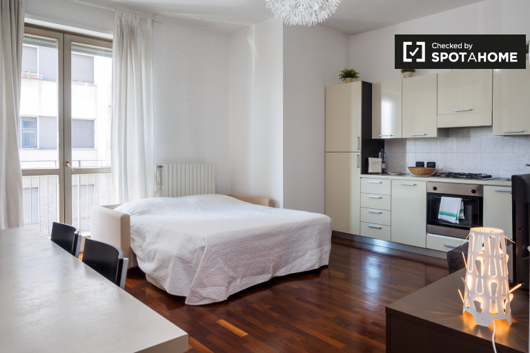 Studio apartment with balcony for rent in Calvairate, Milan