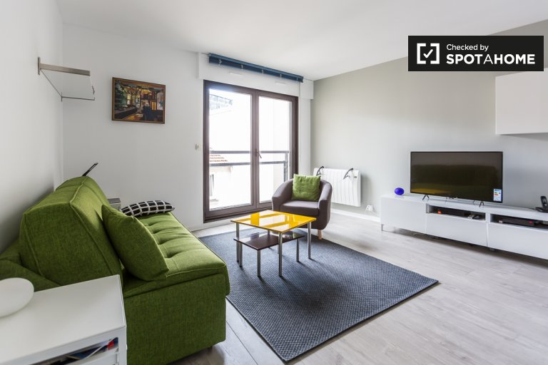 Spacious and stylish studio apartment for rent in Montparnasse