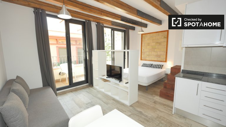 Great studio apartment for rent in Sants, Barcelona