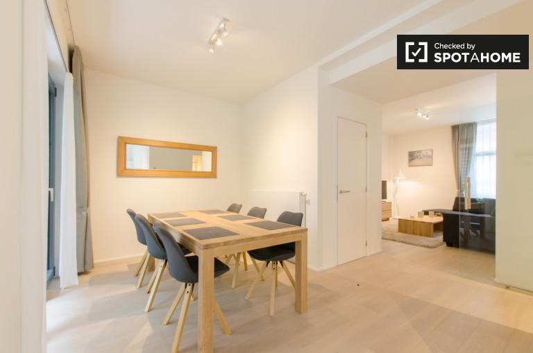 Modern 2-bedroom apartment for rent in Ixelles, Brussels