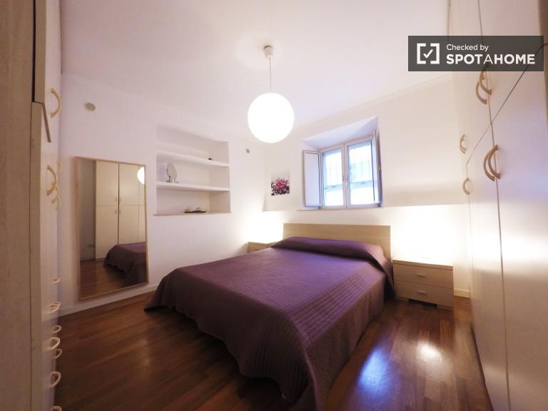 Chambres meublées à louer dans un appartement à Monteverde, Rome