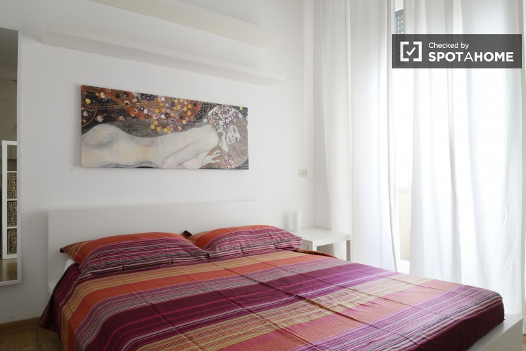 Renovated and luminous studio apartment next to Milano Centrale, utilities included
