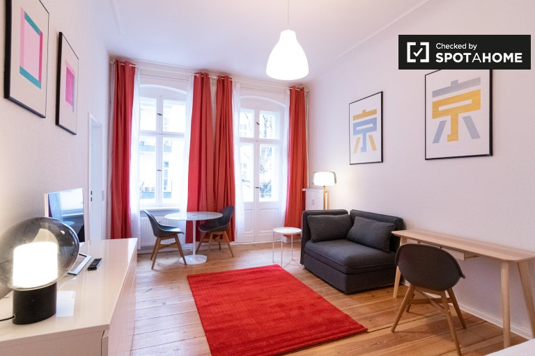 Vibrant studio apartment for rent in Prenzlauer Berg, Berlin