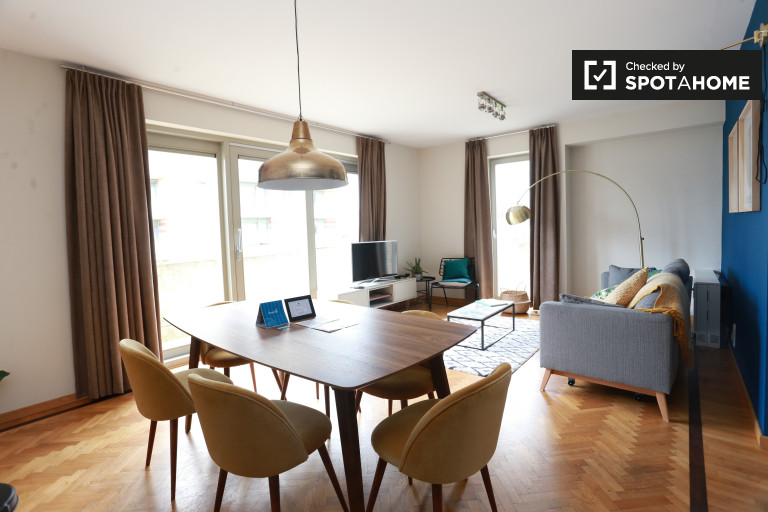Duplex 3 pièces à louer à Ixelles, Bruxelles