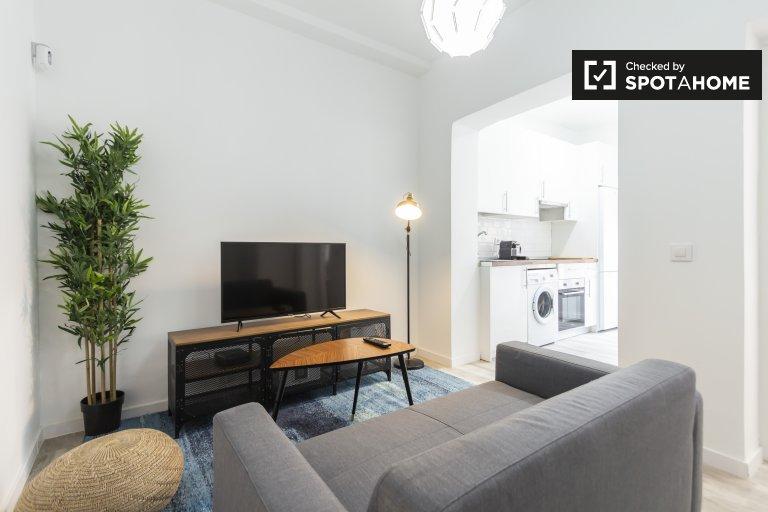 Apartamento moderno de 1 quarto para alugar em Tetuán, Madrid