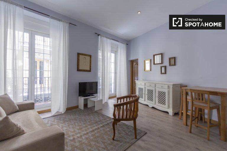 Apartamento de 1 quarto clássico para alugar em Chueca, Madrid