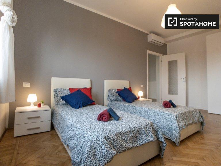 Alquiler de camas en apartamento de 2 dormitorios en San Siro