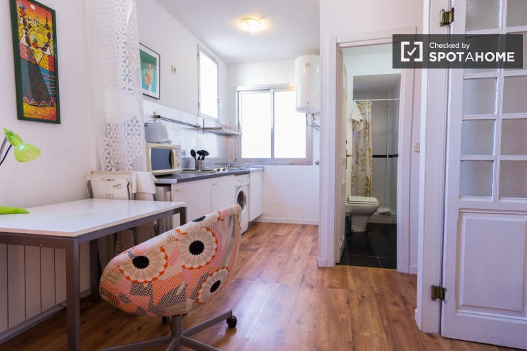 1 bedroom apartment for rent with AC in Tribunal - Madrid