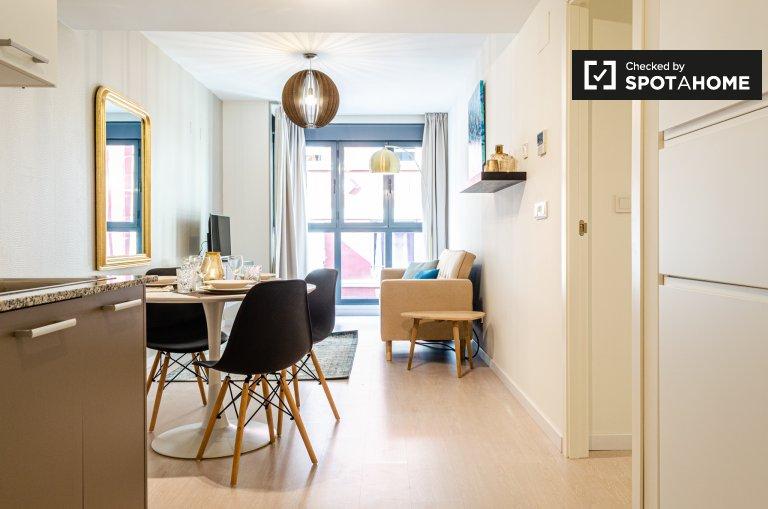 Apartamento chique de 1 quarto para alugar em La Saïdía, Valência