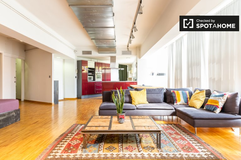 Zentrale Studio-Wohnung zur Miete in Poblenou, Barcelona