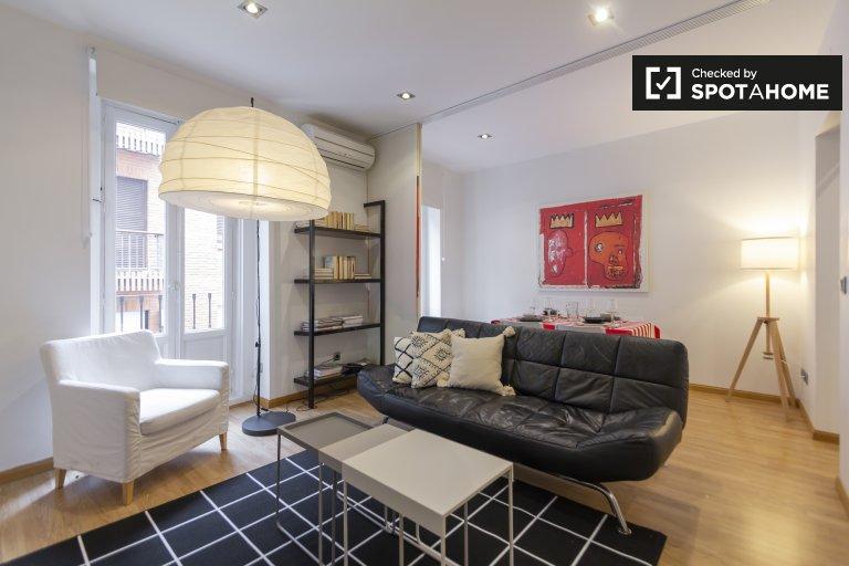 Nowoczesne 1-pokojowe mieszkanie do wynajęcia w Malasaña, Madryt