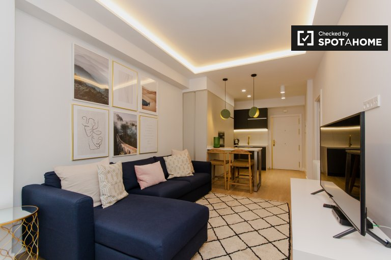 Apartamento de 1 quarto elegante para alugar em Tetuán, Madrid