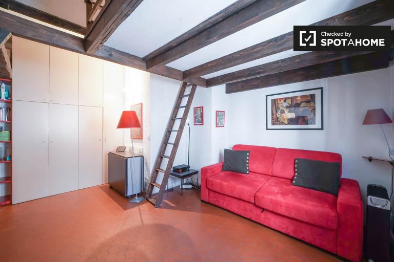 Studio Apartment With Mezzanine studio apartment for rent in the 4th arrondissement, paris | spotahome