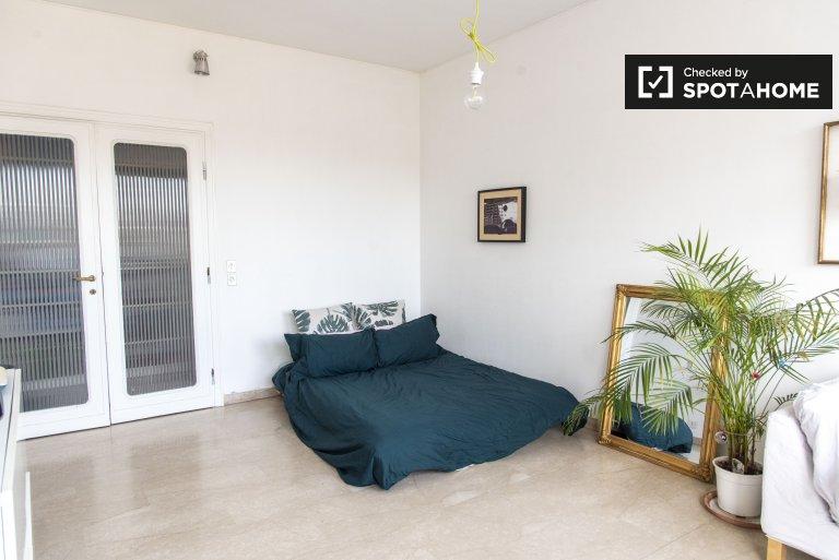 Quarto de casal para alugar, apartamento de 2 quartos, Trastevere, Roma