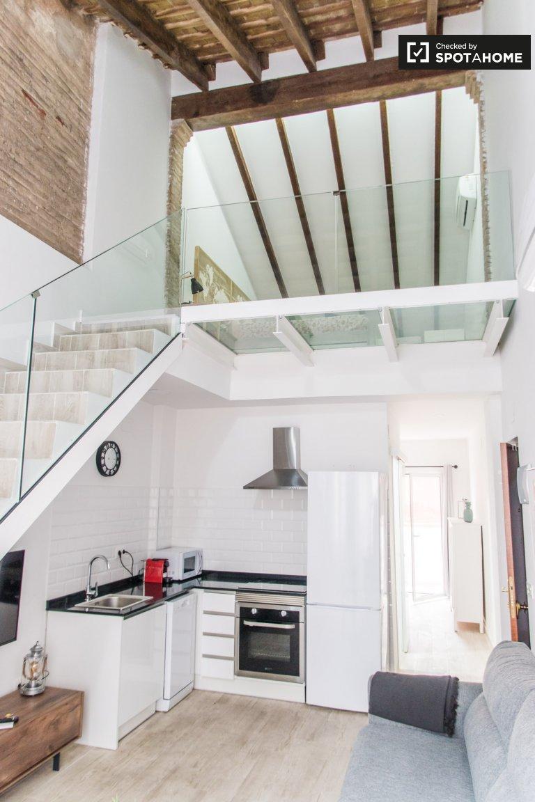 Schickes Studio-Apartment zur Miete in Poblats Marítims, Valencia