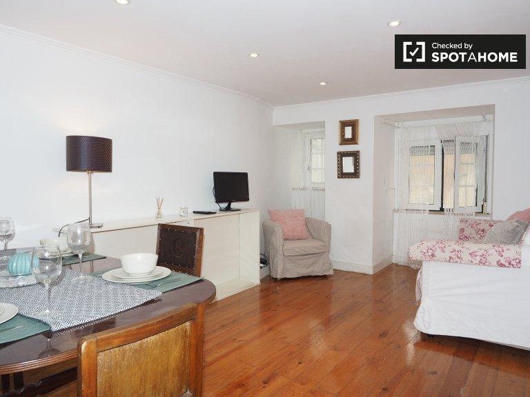 Accogliente appartamento con 1 camera da letto in affitto a Misericórdia, Lisbona