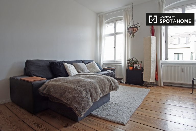 Stylish 1-bedroom apartment for rent in Kreuzberg, near U-Bahn