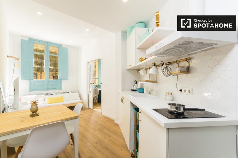 Stilvolle 1-Zimmer-Wohnung zur Miete in Legazpi, Madrid