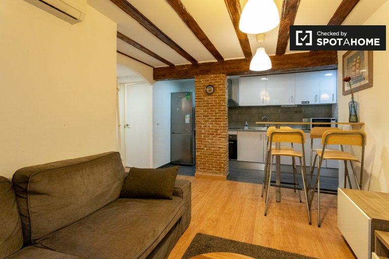 Chic 2-bedroom apartment for rent in El Raval, Barcelona