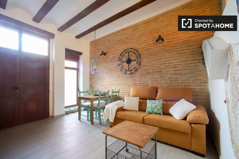 Apartamento de 1 quarto para alugar Poblats Marítims, Valência