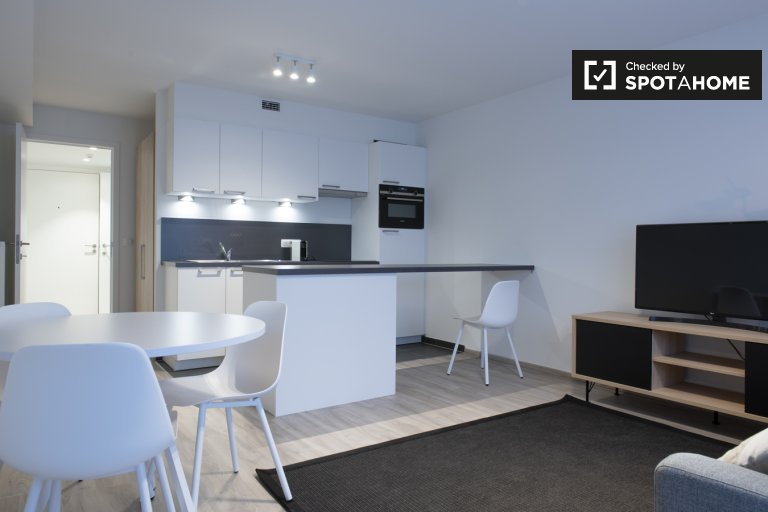 Chic studio apartment for rent in Evere, Brussels