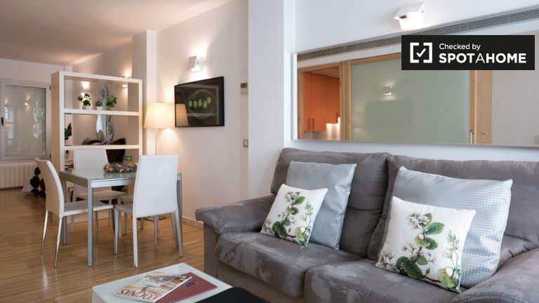 Schöne 2-Zimmer-Wohnung zur Miete in Centro, Madrid