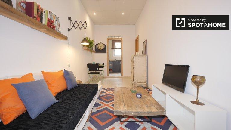 Innovative 2-Zimmer-Wohnung zur Miete in Sant Martí