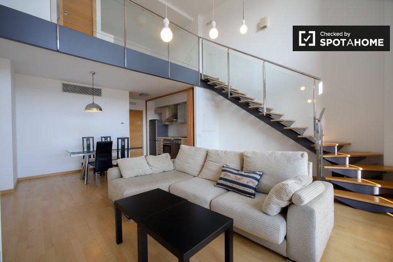Stylowy apartament z 1 sypialnią do wynajęcia w Burjasot w Walencji