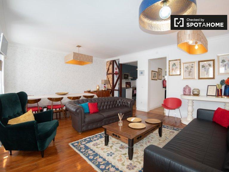 Elegante appartamento con 1 camera da letto in affitto a Estrela, Lisbona