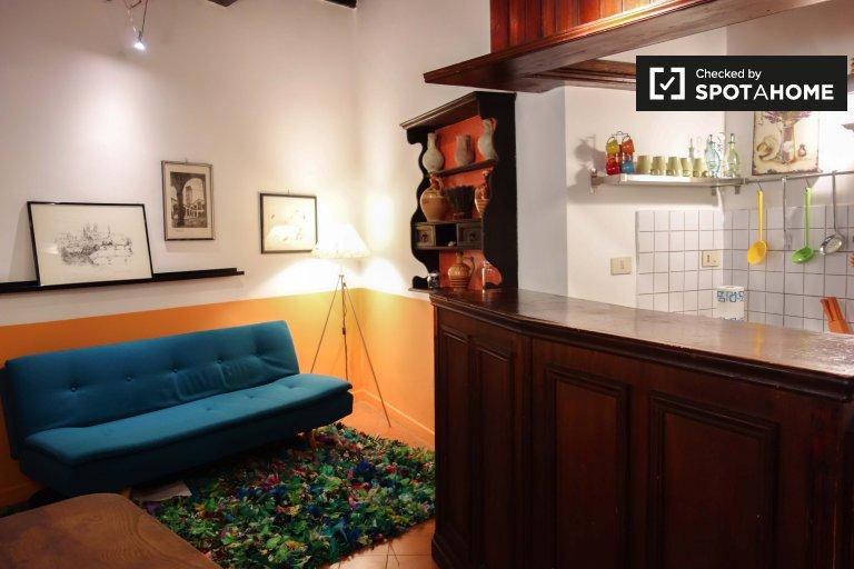 Piękny apartament typu studio do wynajęcia w historycznym centrum Rzymu