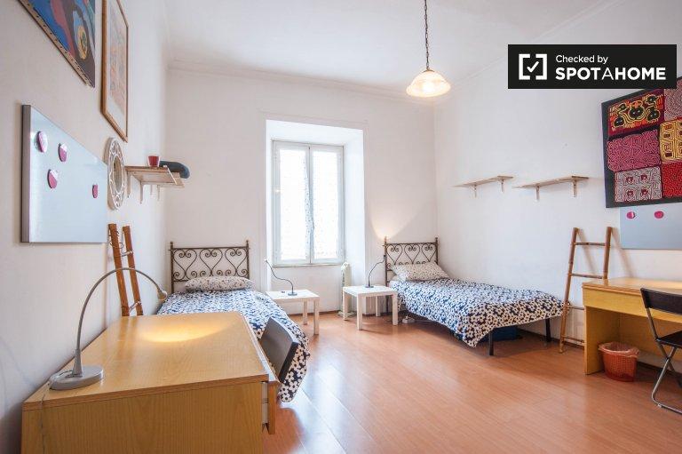 Chambre spacieuse dans un appartement de 2 chambres à San Lorenzo, Rome