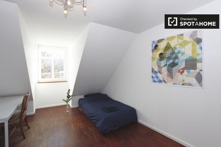 Quarto interior, em, apartamento, em, Prenzlauer, berg, berlim