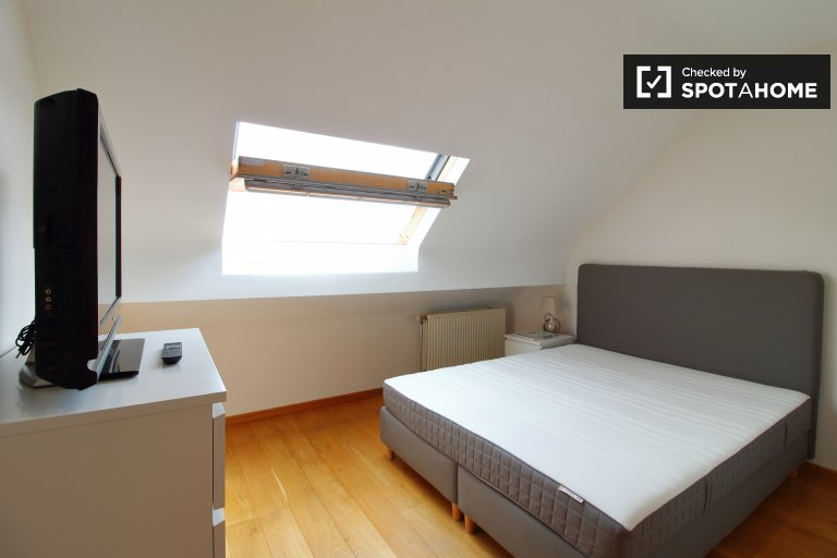 Restful room to rent in 2-bedroom Laeken apartment, Brussels