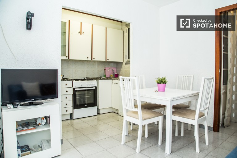 Furnished 3 Bedroom Apartment for Rent with AC in Barcelona